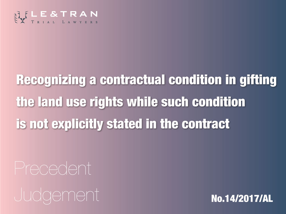 recognizing a contractual condition in gifting the land