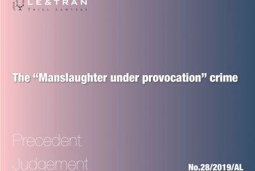 Manslaughter under provocation