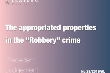 """the appropriated properties in the """"Robbery"""" crime"""